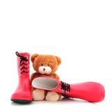 Teddybear met laarzen Royalty-vrije Stock Foto's
