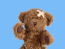 Teddybear piacevole con un'banda-aria Immagini Stock