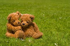 Teddybear Romance Stockfotos