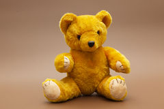 teddybear yellow royaltyfria bilder