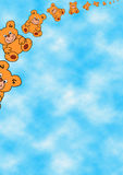 teddybears летания Стоковое Фото