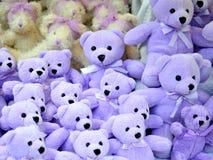 Teddybears coloridos Imagen de archivo libre de regalías