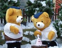 Teddybears mit Kuchen Lizenzfreie Stockfotografie