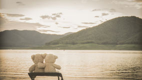 Teddybears relaxing Royalty Free Stock Images