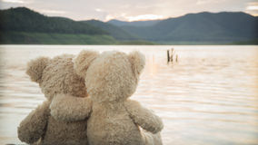 Teddybears relaxing Royalty Free Stock Photography