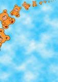 Teddybears vliegt royalty-vrije illustratie