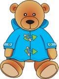 Teddybeer in blauwe laag Stock Foto