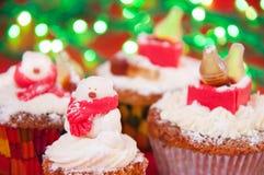 Teddybeer cupcakes Royalty-vrije Stock Foto