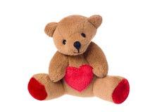 Teddybeer die een hart houdt Royalty-vrije Stock Afbeeldingen