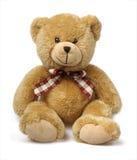 Teddybeer die op wit wordt geïsoleerdt Royalty-vrije Stock Foto