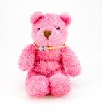 Teddybeer die op witte achtergrond wordt geïsoleerdf Stock Afbeeldingen