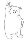 Teddybeer die overwinning, contouren toont Royalty-vrije Stock Fotografie