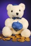Teddybeer klaar voor Chanoeka royalty-vrije stock afbeelding