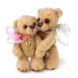 Teddybeer in klassieke uitstekende stijl stock fotografie