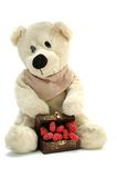 Teddybeer in liefde royalty-vrije stock afbeeldingen