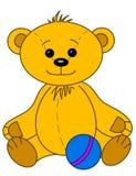 Teddybeer met bal Royalty-vrije Stock Fotografie