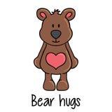 Teddybeer met bihhart Royalty-vrije Stock Afbeelding