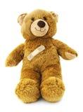 Teddybeer met een pleister royalty-vrije stock afbeelding