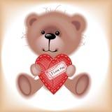 Teddybeer met hart. Stock Afbeeldingen