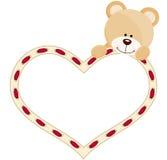 Teddybeer met hart royalty-vrije illustratie