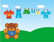 Teddybeer met kleren 2 Stock Fotografie