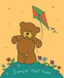 Teddybeer met vlieger Royalty-vrije Stock Afbeeldingen