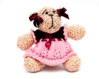 Teddybeer op een wit Royalty-vrije Stock Afbeelding