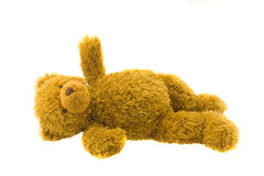 Teddybeer op een witte achtergrond Royalty-vrije Stock Foto