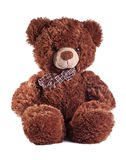 Teddybeer op wit Royalty-vrije Stock Foto's