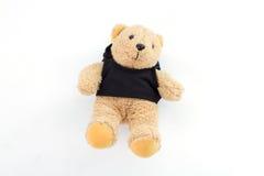 Teddybeer op witte achtergrond Stock Foto's