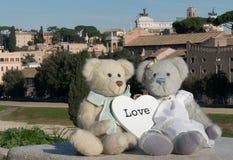 Teddybeer in Rome Royalty-vrije Stock Afbeeldingen