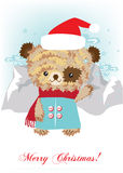 Teddybeer in sneeuwlandschap Vector Illustratie