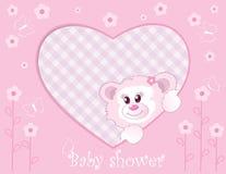 Teddybeer voor babymeisje Stock Foto's
