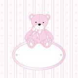 Teddybeer voor babymeisje Stock Foto