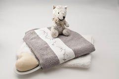 Teddyberen en badconcept royalty-vrije stock foto