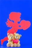 Teddyberen in liefde Stock Afbeeldingen