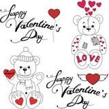 Teddyberen in liefde Royalty-vrije Stock Afbeelding