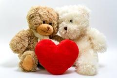 Teddyberen voor de Dag van de Valentijnskaart Royalty-vrije Stock Afbeeldingen