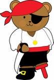 Teddybär-Pirat Stockbild