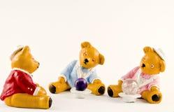 组teddys 免版税库存照片
