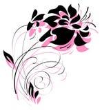 Teder bloemsilhouet Stock Foto