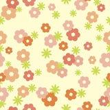 Tedere bloemen naadloze achtergrond Royalty-vrije Stock Fotografie