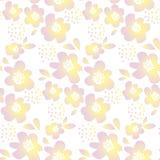 Tedere kleuren bloemen vectorillustratie royalty-vrije illustratie