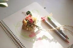Tederheids kleine bloemen royalty-vrije stock afbeeldingen