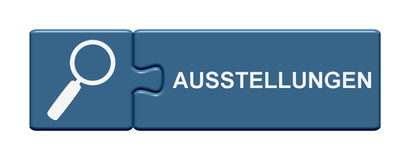 Tedesco di mostra del bottone di puzzle Fotografia Stock Libera da Diritti