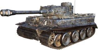 Tedesco Tiger Tank Isolated di WWII illustrazione di stock