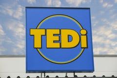TEDI市场商标 免版税图库摄影