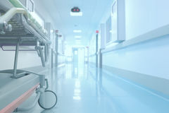 Tedious waiting in the hospital corridor. Concept Royalty Free Stock Image