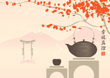 Tee als Methode der Meditation stock abbildung