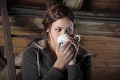 Tee auf der Mansarde Lizenzfreies Stockfoto
